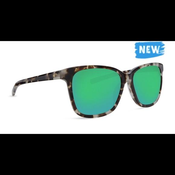 bf3e92e329 Costa May Shiny Tiger Cowrie Green Sunglasses